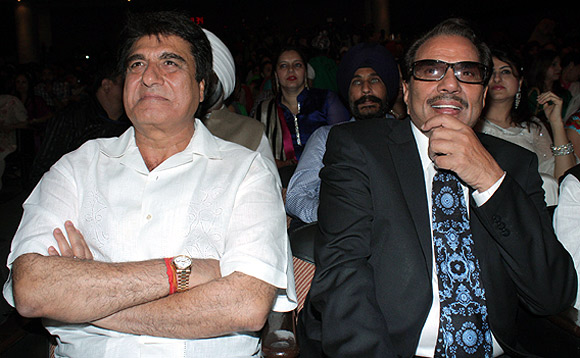 Raj Babbar and Dharmendra