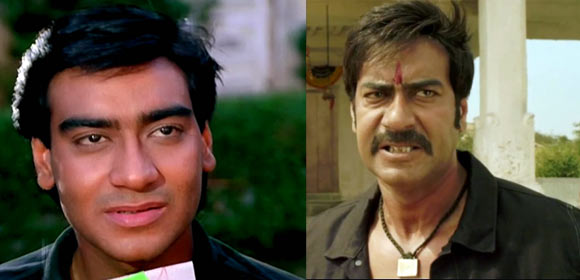 Ajay Devgn in Phool Aur Kaante and Himmatwala