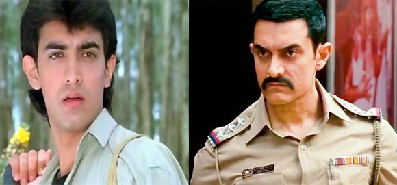 Aamir Khan in Qayamat Se Qayamat Tak and Talaash