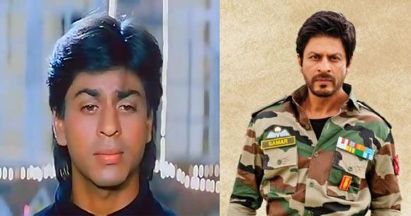 Shah Rukh Khan in Deewana and Jab Tak Hai Jaan