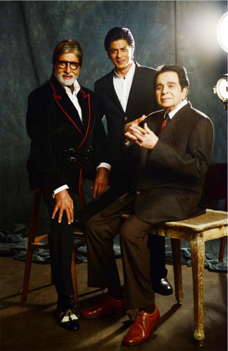 Amitabh Bachchan, Shah Rukh Khan and Dilip Kumar