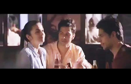 Alia Bhatt, Varun Dhawan and Siddharth Malhotra in Coca Cola ad