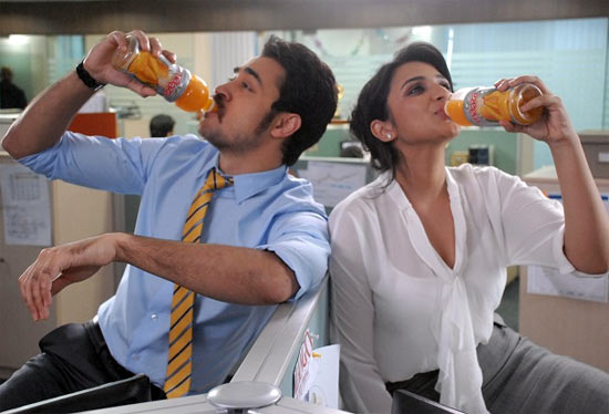 Imran Khan and Parineeti Chopra in Slice ad