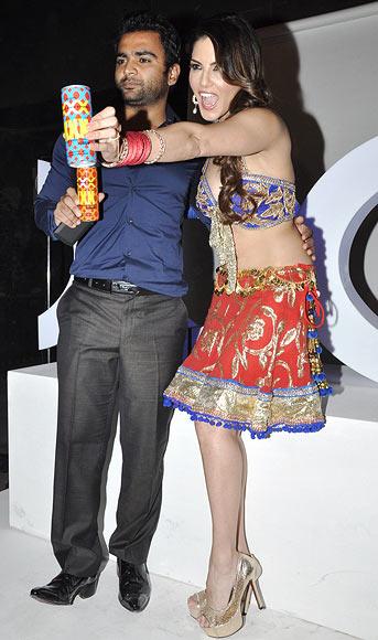 Sachiin Joshi and Sunny Leone
