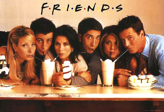 Lisa Kudrow, Matt LeBlanc, Courtney Cox, David Schwimmer, Jennifer Aniston and Mathew Perry in Friends