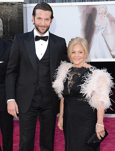 Bradley Cooper with mum Gloria at Oscar 2013