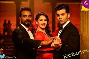 Remo, Madhuri Dixit Nene and Karan Johar