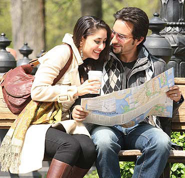 Kareena Kapoor with Saif Ali Khan in Kurbaan