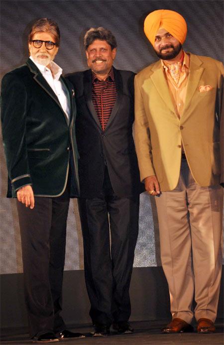 Amitabh Bachchan, Kapil Dev and Navjot Singh Sidhu