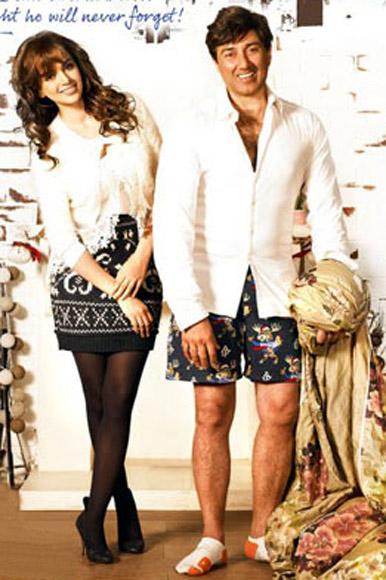 Kangna Ranaut and Sunny Deol in I Love NY