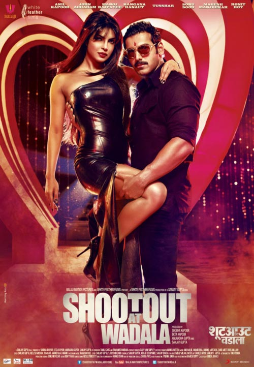 Priyanka Chopra and John Abraham in a Shootout at Wadala poster