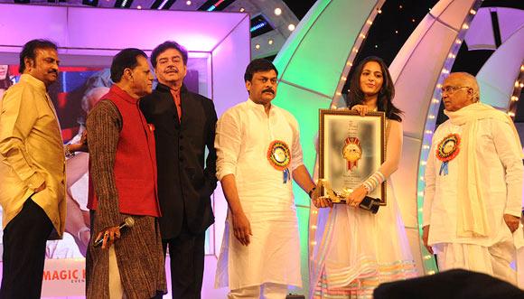 Mohan Babu, T Subhrami Reddy, Shatrughan Sinha, Chiranjeevi, Anushka Shetty, Akkineni Nageshwara Rao