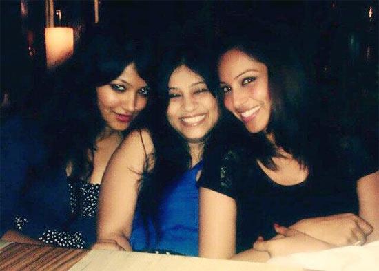 Bipasha Basu with her sisters Bijoyeta and Bidisha