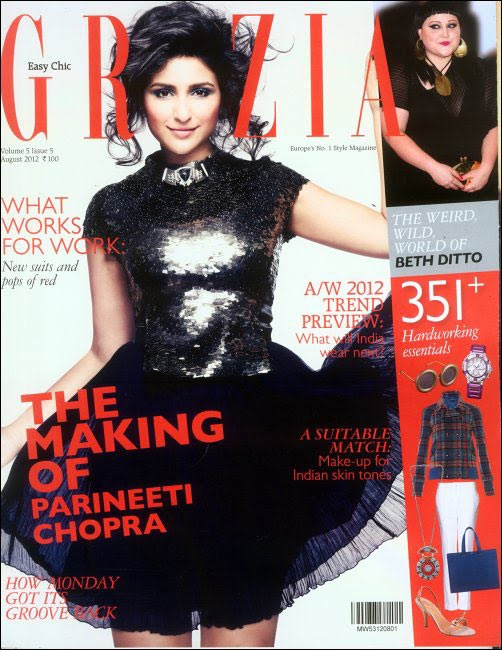 Parineeti Chopra on the cover of Grazia