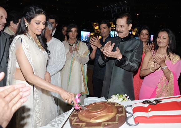 Anupam Kher, Sridevi, Javed Akhtar, Shabana Azmi, Manish Malhotra, Subroto Roy, Swapna Roy