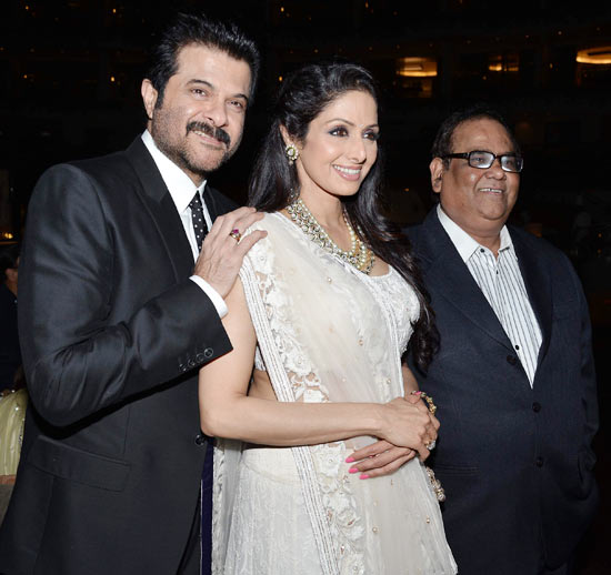 Anil Kapoor, Sridevi and Satish Kaushik