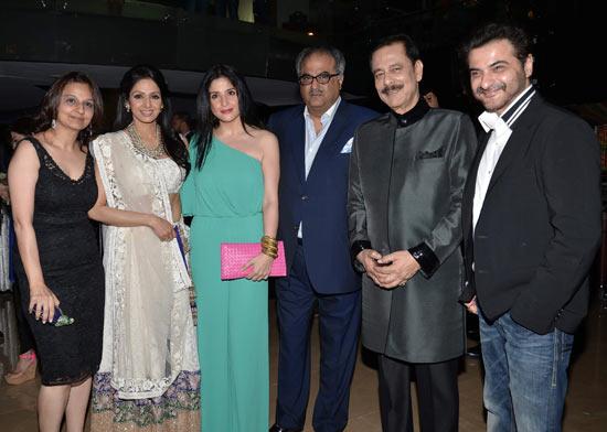 Sridevi, Maheep Kapoor, Boney Kapoor, Subroto Roy and Sanjay Kapoor