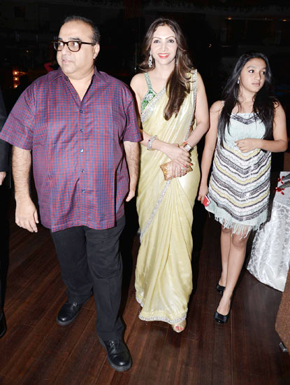 Rajkumar Santoshi, wife Manila and daughter Tanisha