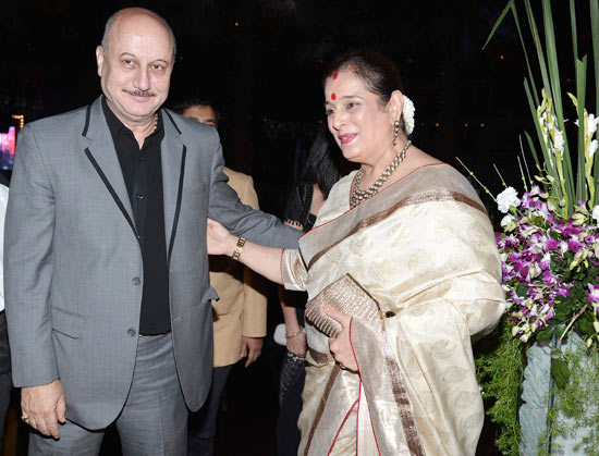 Anupam Kher and Poonam Sinha