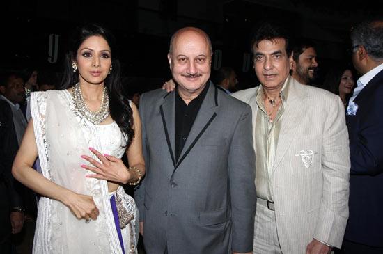 Sridevi, Anupam Kher and Jeetendra