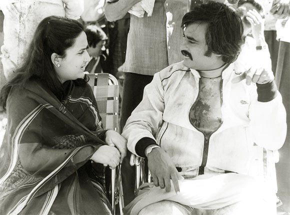 Rajinikanth with wife Latha Rangachari