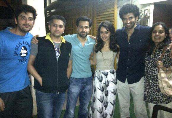 Shaad Randhawa, Mohit Suri, Emraan Hashmi, Shraddha Kapoor, Aditya Roy Kapur and Shagufta Rafique