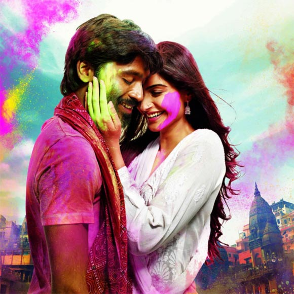 Dhanush and Sonam Kapoor in Raanjhana