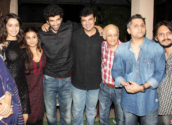 Shraddha Kapoor, Aditya Roy Kapur, Siddharth Roy Kapur, Mukesh Bhatt, Mohit Suri and Vishesh Bhatt