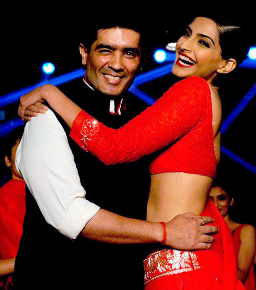 Manish Malhotra and Sonam Kapoor