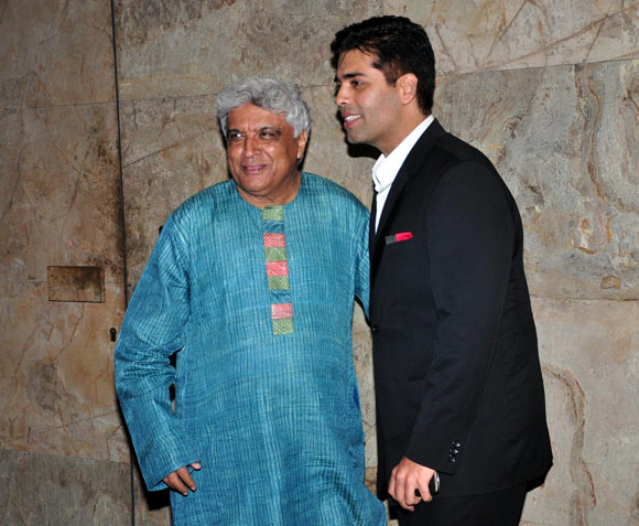 Javed Akhtar and Karan Johar