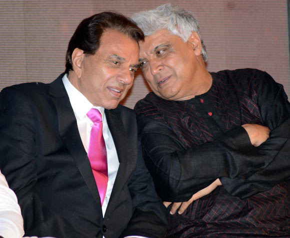 Dharmendra and Javed Akhtar