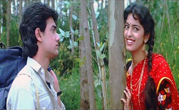 Aamir Khan and Juhi Chawla in Qayamat Se Qayamat Tak