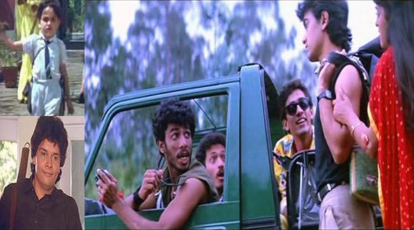 Clockwise from top: Imran Khan, Shehzad Khan, Makrand Deshpanday, Faisal and Aamir Khan, Juhi Chawla in Qayamat Se Qayamat Tak