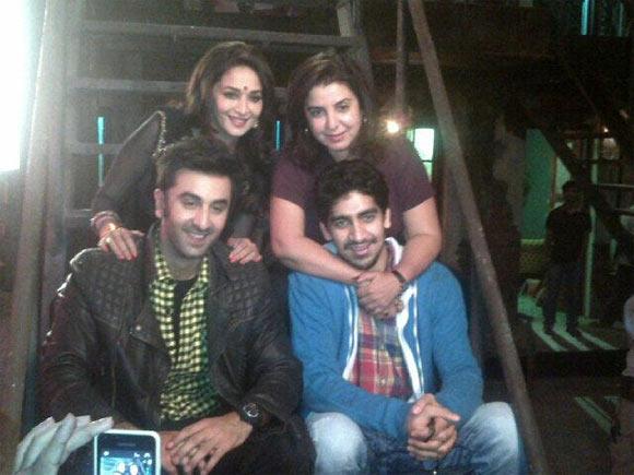 Clockwise: Madhuri Dixit, Farah Khan, Ayan Mukherji and Ranbir Kapoor
