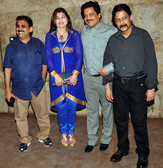 Anand-Milind alongwith Alka Yagnik and Udit Narayan