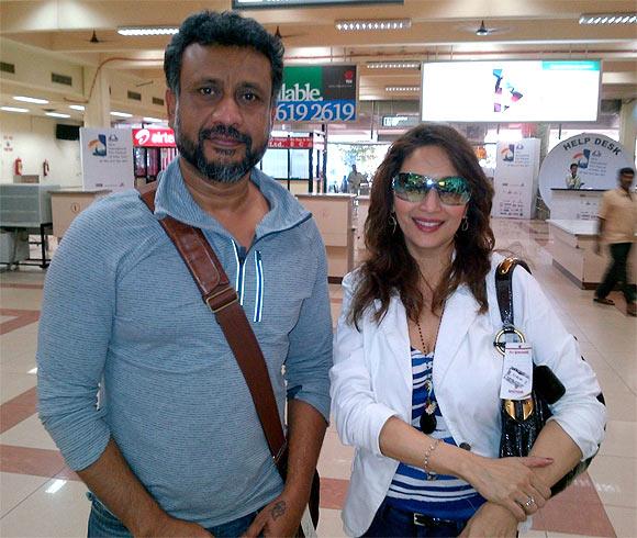 Madhuri Dixit with Anubhav Sinha