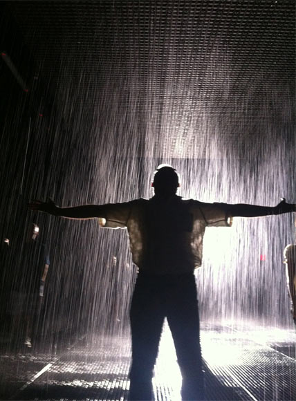 Aseem Chhabra at MoMA's Rain Room