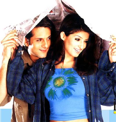 Twinkle Khanna with Fardeen Khan in Love Ke Liye Kuch Bhi Karega