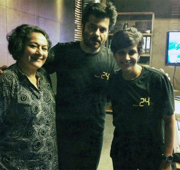 Gita Bedi, Anil Kapoor and Mandira Bedi