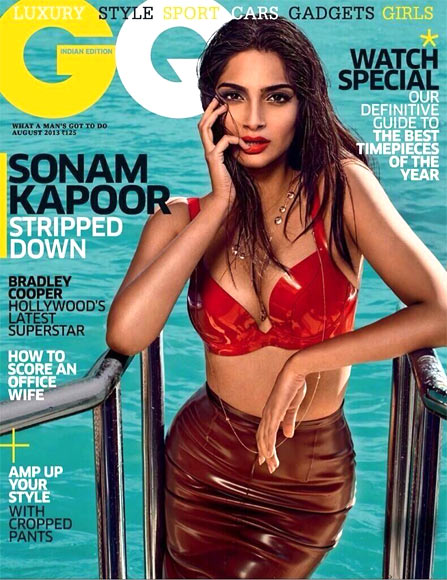 Sonam Kapoor on the cover GQ magazine