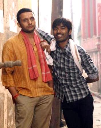 Mohammed Zeeshan Ayyub and Dhanush in Raanjhanna