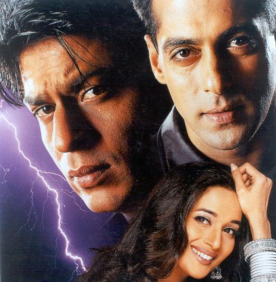 Madhuri Dixit, Shah Rukh Khan and Salman Khan in Hum Tumhare Hai Sanam