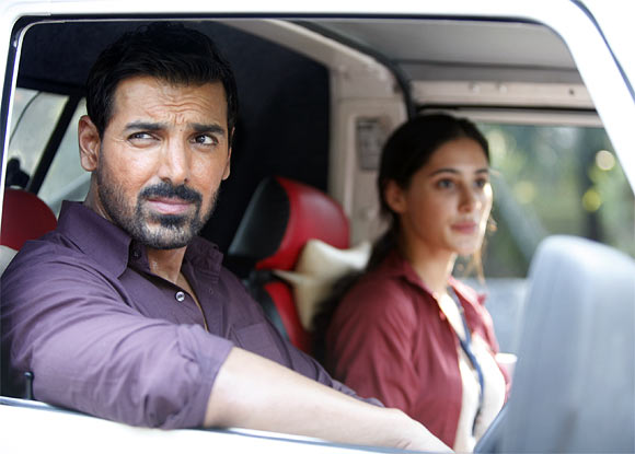 John Abraham and Nargis Fakhri in Madras Cafe