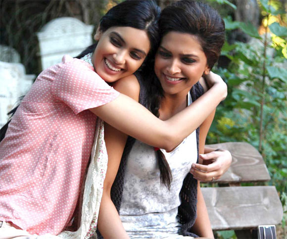 Deepika Padukone with Diana Penty in Cocktail