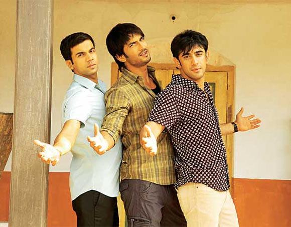 Raj Kumar Yadav, Sushant Singh Rajput and Amit Sadh in Kai Po Che!