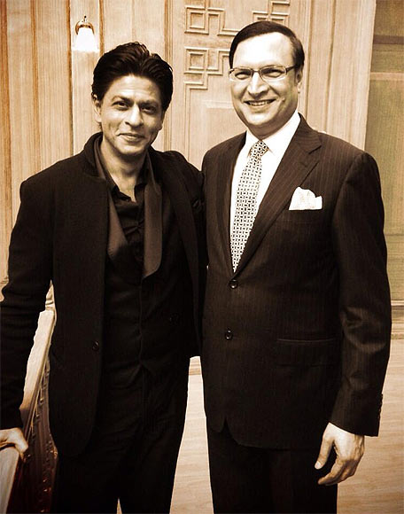 Shah Rukh Khan and Rajat Sharma