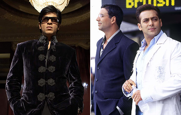Salman Khan in Don, Akshay Kumar and Salman Khan in Jaan-E-Mann