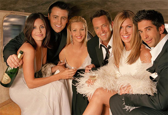 Courtney Cox, Matt LeBlanc, Lisa Kudrow, Mathew Perry, Jennifer Aniston and David Schwimmer in Friends