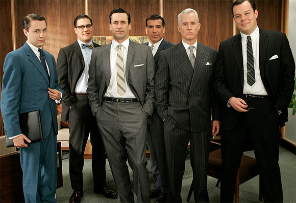 Vincent Kartheiser, Rich Sommer, Jon Hamm, Bryan Batt, John Slattery and Michael Gladis in Mad Men