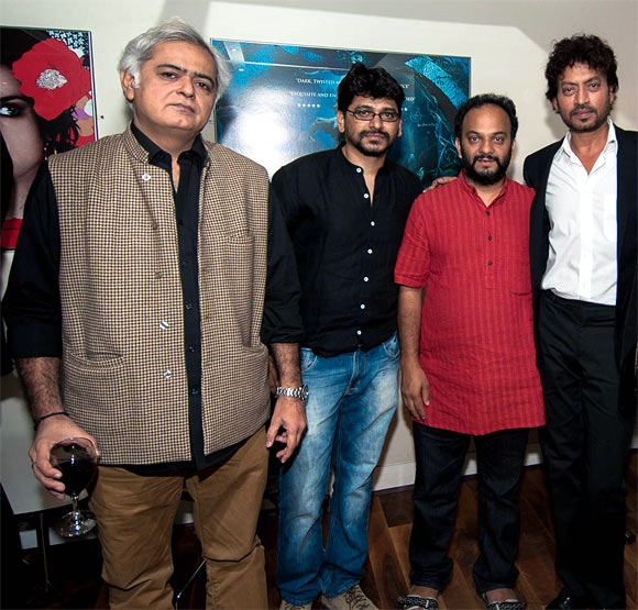 Hansal Mehta, Pawan Kumar, Amit Kumar and Irrfan Khan
